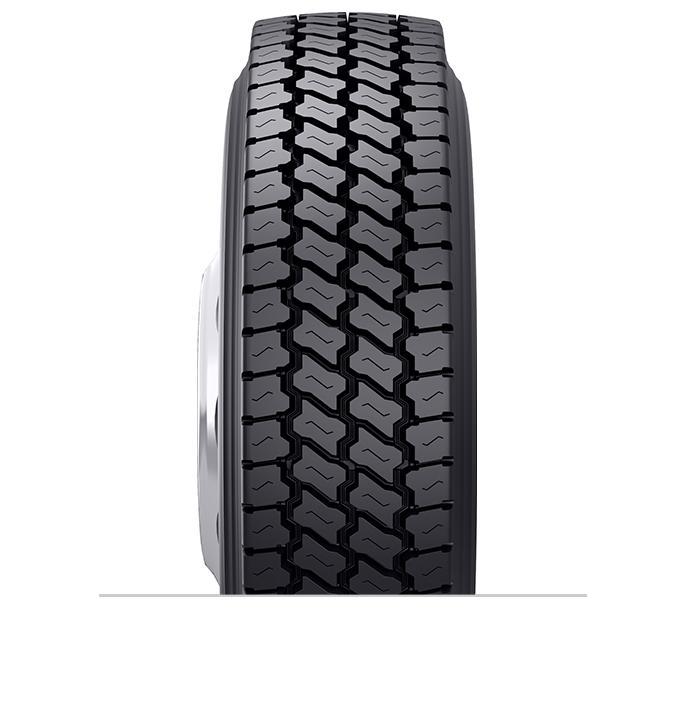 Características especializadas del neumático reencauchado Ultra Drive™