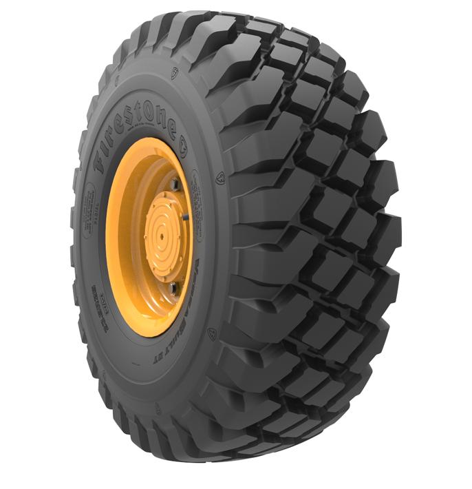 Caractéristiques spécialisées du pneu à bande profonde<br><i><span>(E4/L4)</span></i> VersaBuilt™